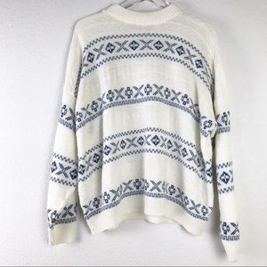 VTG Lighter Weight Nordic Fair Isle Plus Size Pullover Knit Sweater Made in USA